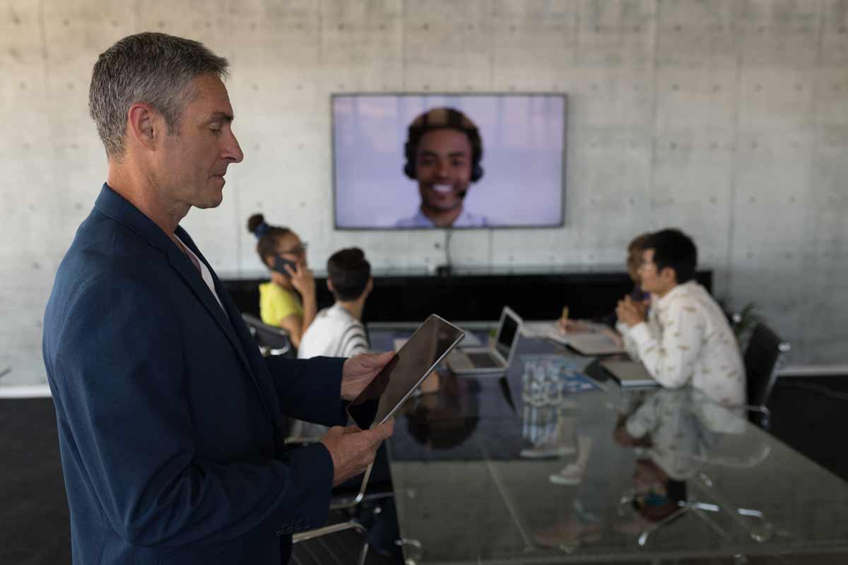 Visioconférence dans le monde l'entreprise