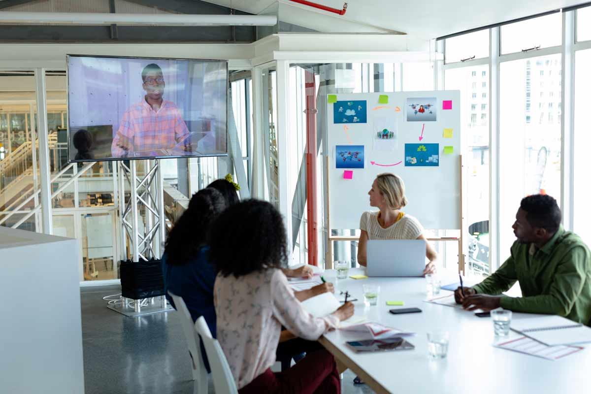 Visioconférence pour le travail en équipe