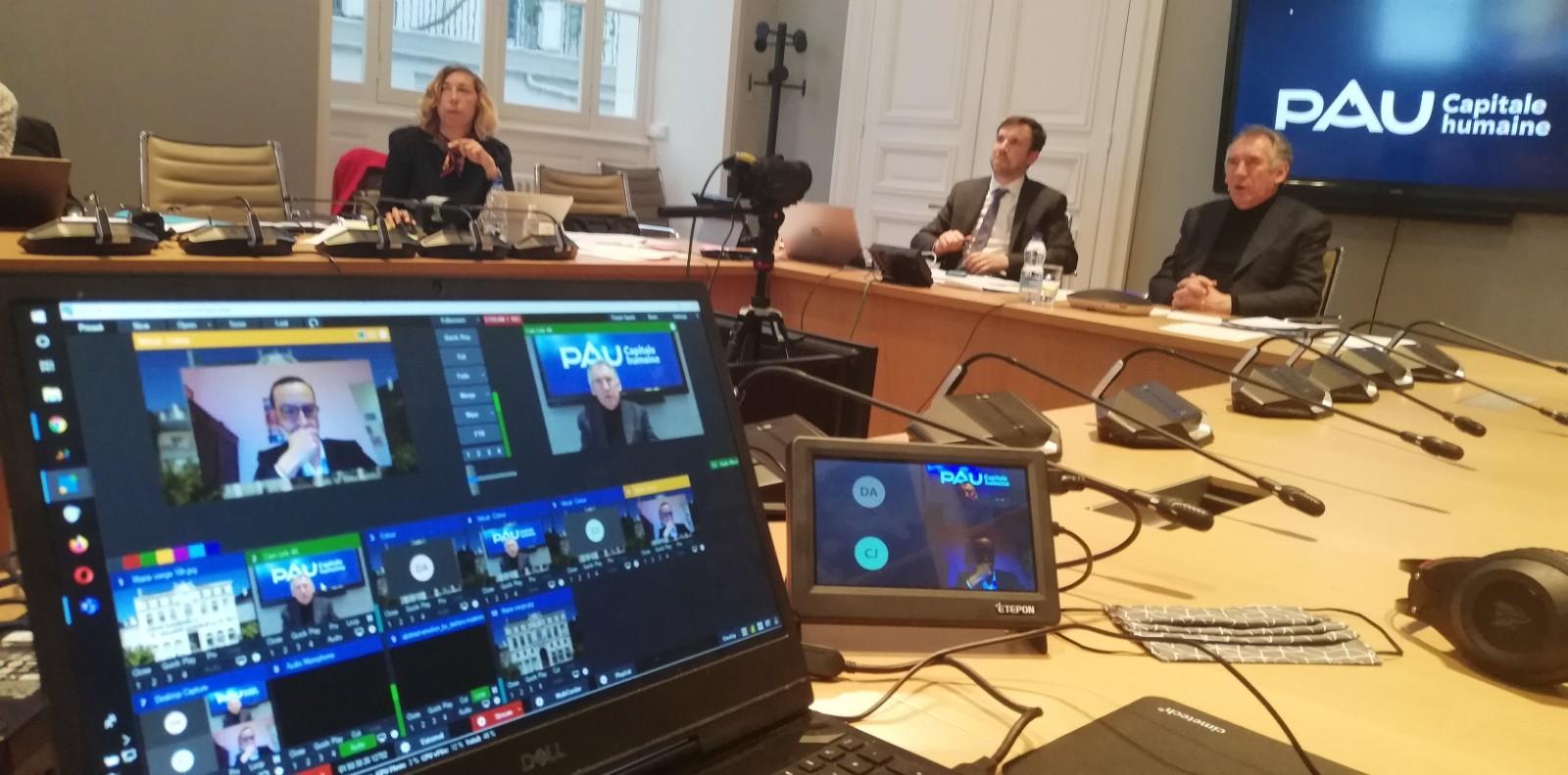 Retransmission sur youtube de la visioconférence du conseil communautaire