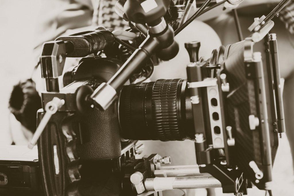 Caméra de tournage vidéo professionnelle
